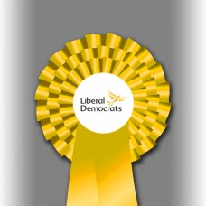 Liberal Democrat Party Three Tier Rosette